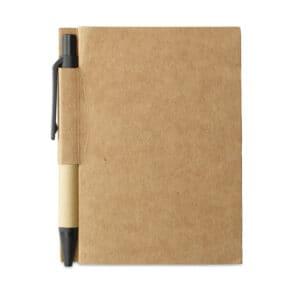 Libreta-Bolígrafo Papel sostenible