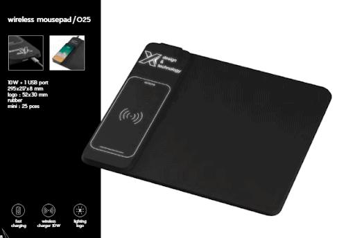 mousepad con cargador